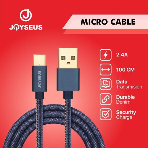 Foto Produk JOYSEUS Micro USB Cable 2.4A Cowboy Gold Braided Cable 120CM-KB0002 dari Joyseus Official Store