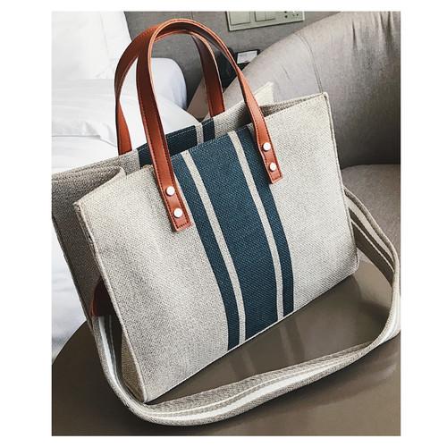 Foto Produk TOTE BAG TAS WANITA IMPORT HAND WAIST KULIT PU DOCTOR KADO NIKAH 122 - LIST BLUE dari Tas wanita Tas import 24