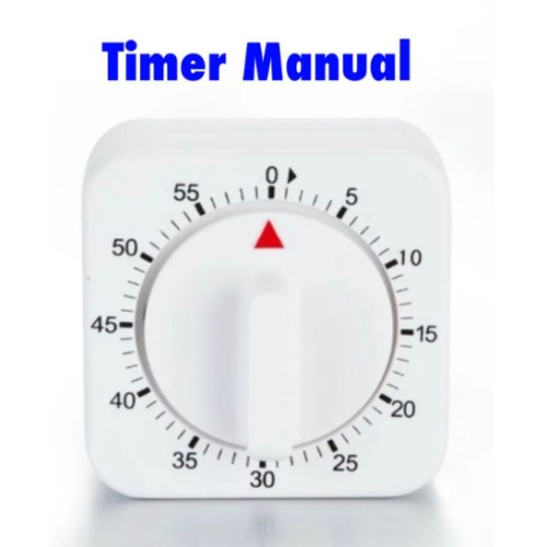 Foto Produk Timer Masak Dapur Manual Portable 60 Minutes Kitchen Count Down Putar dari ichaami