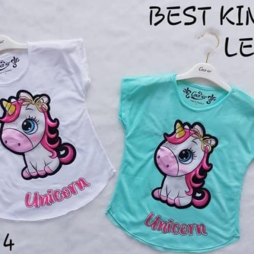 Foto Produk Kaos Anak Perempuan Model Baru Blus Led Nyala Lampu Pony Unicorn B dari New HS Store