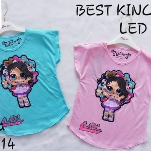 Foto Produk Kaos Anak Perempuan Model Baru Blus Led Nyala Lampu LOL h dari New HS Store