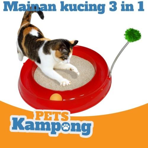 Foto Produk Mainan Kucing Interaktif 3 in 1 Opo Cat Play toy ball circuit - Hijau dari Pets Kampong