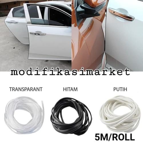 Foto Produk KARET LIS LIST PENGAMAN PELINDUNG PINTU MOBIL DENGAN DOUBLE TAPE 5 M - TRANSPARANT dari Modifikasi Market