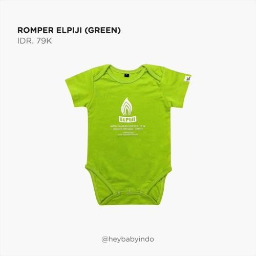 Foto Produk Hey Baby Romper Elpiji (Green) Jumper Anak Bayi - 3-6m dari Hey! Baby