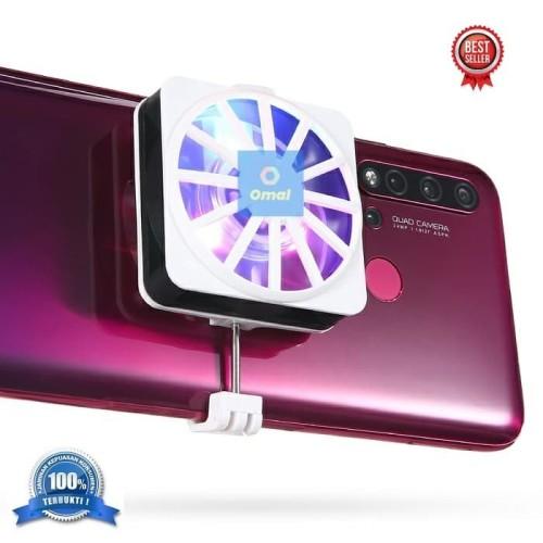 Foto Produk Kipas Pendingin HP Ponsel Fan Cooler Cooling HP Smart Phone (PUTIH) dari Omal