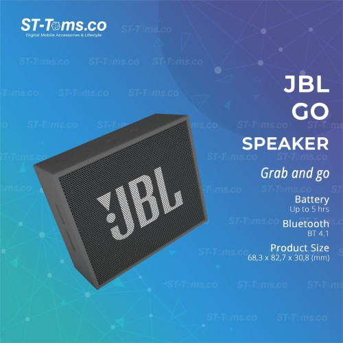 Foto Produk JBL GO Portable Bluetooth Speaker - Black dari ST-Toms.co