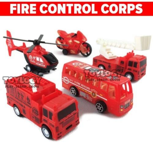 Foto Produk Mainan Anak Truck Pemadam Kebakaran Fire Control Corps Bis Motor Heli dari Toylogy