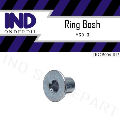 Foto Produk Ring Bosh-Bos-Bus-Bushing Topi Panjang M6 x 13-M6x13-6x13-6 x 13 mm dari IND Onderdil