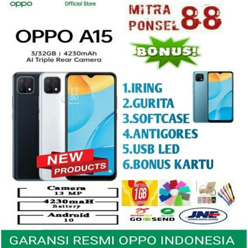Foto Produk OPPO A15 RAM 3/32GB GARANSI RESMI OPPO INDONESIA - Demo Tanpa Dus dari Mitra Ponsel 88