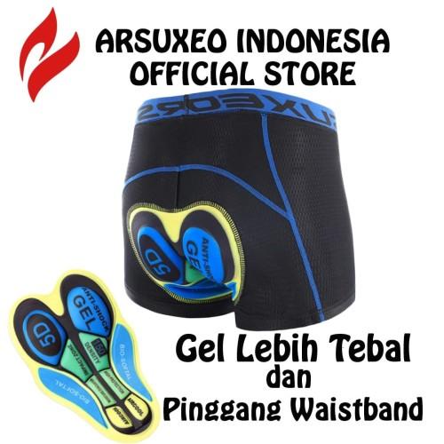 Foto Produk Celana Dalam Sepeda Roadbike MTB Pria Wanita Padding Gel / ARSUXEO U05 - L dari Arsuxeo Indonesia