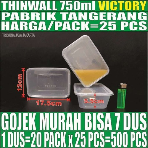 Foto Produk Thinwall 750 ml food container box tempat kotak makan plastik murah dari triguna jaya jakarta