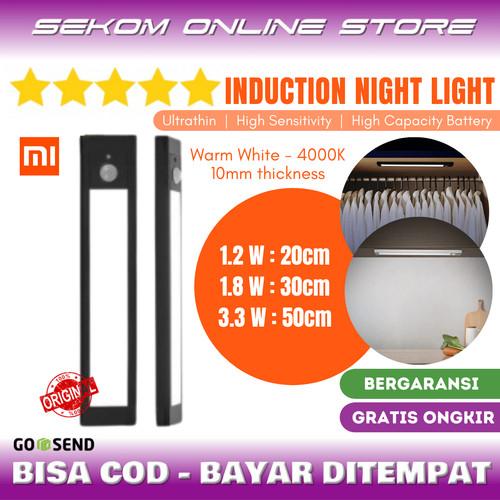 Foto Produk XIAOMI HUIZUO Night Light LED USB Rechargeable Lampu Lemari Sensor dari SEKOM ONLINE STORE