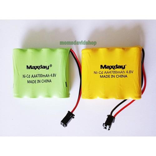 Foto Produk PROMO Baterai cas Ni-CD AA 4700mAh 4.8V MAXDAY Soket hitam u/Mainan dari momsdavidshop
