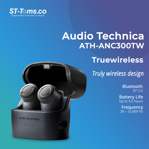 Foto Produk Audio Technica ATH ANC300TW ANC In-Ear Wireless Headphone - ANC300TW dari ST-Toms.co