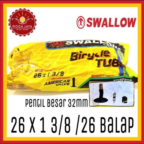 Foto Produk Ban Dalam Sepeda Swallow 26 x 1 3/8 AV dari Rodajaya Olshop