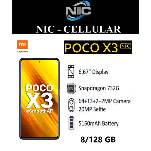 Foto Produk Xiaomi Pocophone X3 NFC 8/128Ram 8gb Rom 128gb GARANSI RESMI dari Nic-cell