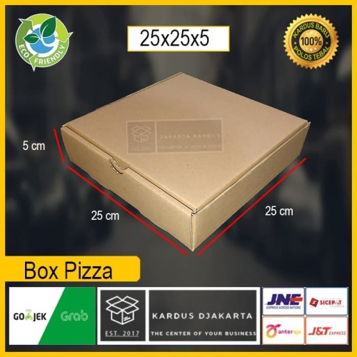 Foto Produk KARDUS|BOX PIZZA Uk. 25x25x5 POLOS DAN BARU dari Kardus Djakarta