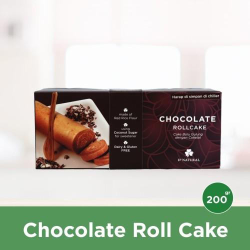 Foto Produk Gluten Free Roll Cake Cokelat dari Dnatural