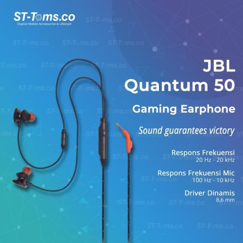 Foto Produk JBL Quantum 50 Wired In-Ear Gaming Earphone - Hitam dari ST-Toms.co