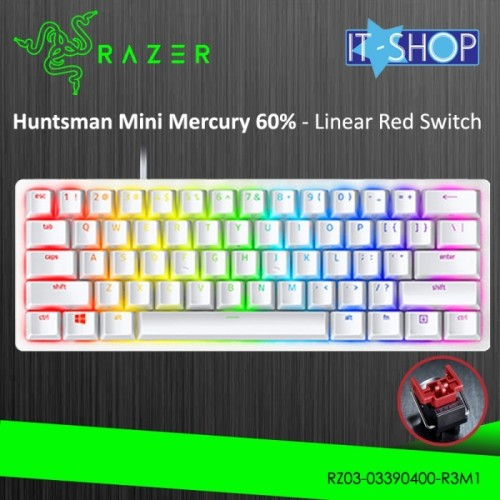 Foto Produk Razer Keyboard Huntsman Mini Mercury - Red dari IT-SHOP-ONLINE
