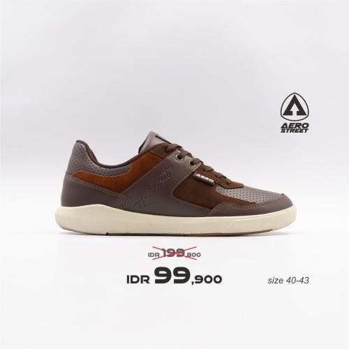 Foto Produk Aerostreet 40-43 Oscar Coklat Tua - Sepatu Sneakers Casual Aero Street - 40 dari Aerostreet