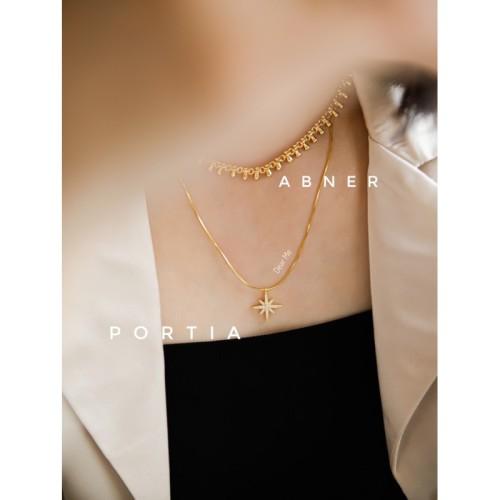 Foto Produk Dear Me - Portia Necklace 925 Sterling Silver 18K Gold Plating Kalung dari Dear Me Jewelry