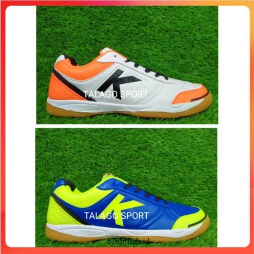 Foto Produk Sepatu futsal kelme K-strong royal blue - white orange dari produkdewasa