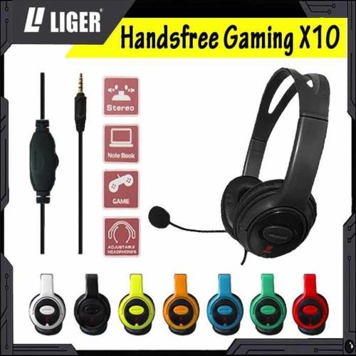 Foto Produk Liger X10 Headphone/Handsree Gaming Series 4 Mobile & Games W/Mic - Hitam dari LIGER OFFICIAL STORE