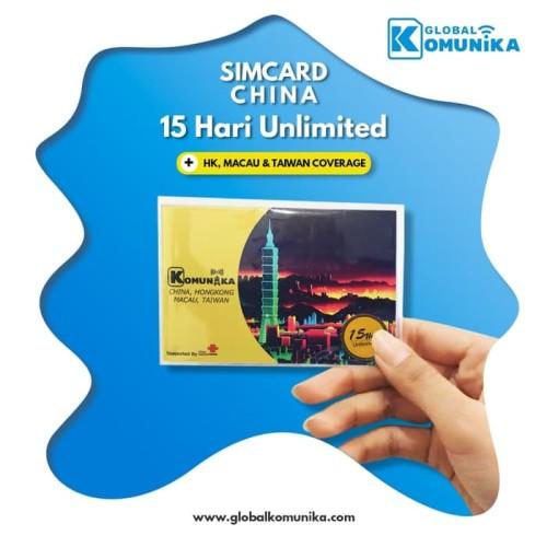 Foto Produk SIM CARD CHINA HONGKONG MACAU TAIWAN 15 HARI 2 GB UNLIMITED | SIMCARD dari Global Komunika JKT
