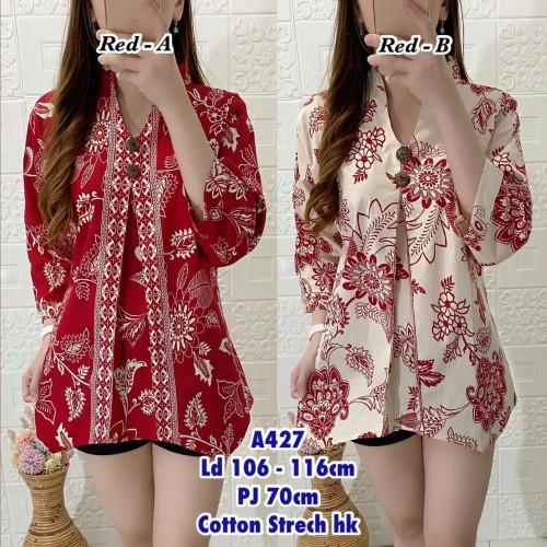 Foto Produk Atasan Blouse Batik Import Cotton Stretch 427 9617 dari HER'Z SHOP