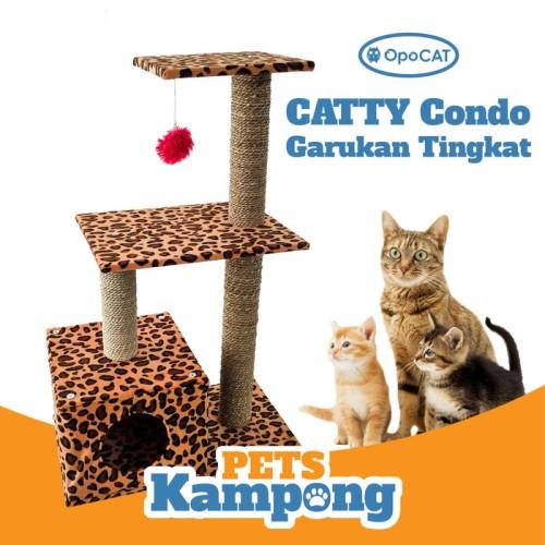 Foto Produk Mainan kucing Cat Condo tree Garukan scratcher tingkat dari Pets Kampong