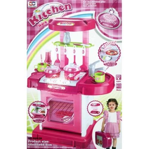 Foto Produk Mainan Edukasi / Edukasi Anak - Kitchen Set Koper Perempuan Pink Masak dari Danzel Corner