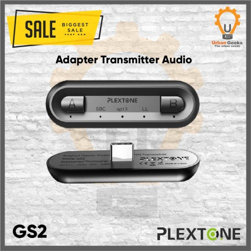 Foto Produk Plextone GS2 Bluetooth Audio USB Transceiver Wireless APTX Low Latency dari Urban Geeks