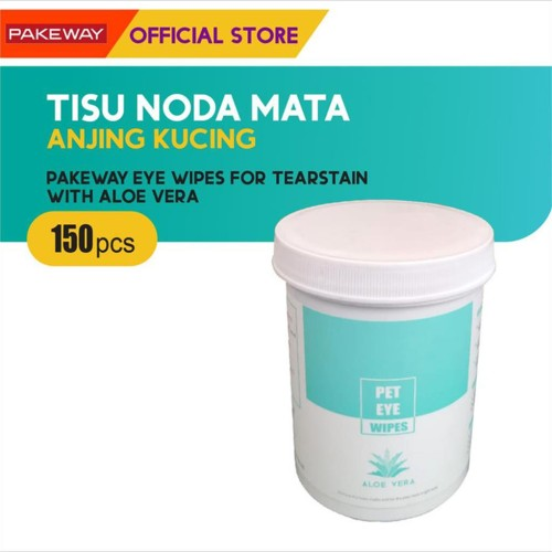 Foto Produk Pakeway Pet Eye Wipe Aloe Vera for Tearstain 150 pcs / Tisu Noda Mata dari Olego Official Store