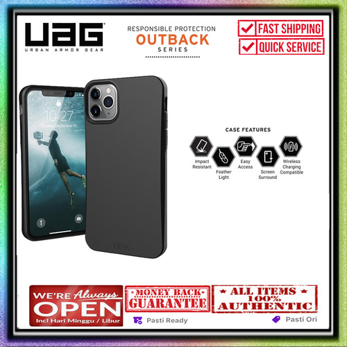 Foto Produk iPhone 11 Pro Max / iPhone 11 Pro Case UAG OUTBACK 100% Biodegradable - iPhone 11ProMax, Black dari UAG OFFICIAL INDONESIA