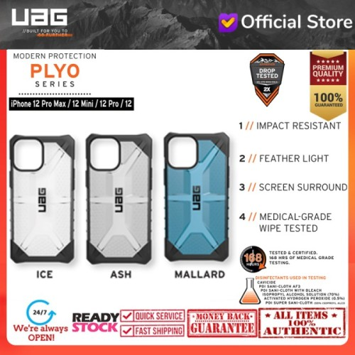 Foto Produk Case iPhone 12 Pro Max / Pro / 12 Mini Urban Armor Gear UAG PLASMA - iPhone 12Pro/12, ICE dari UAG OFFICIAL INDONESIA