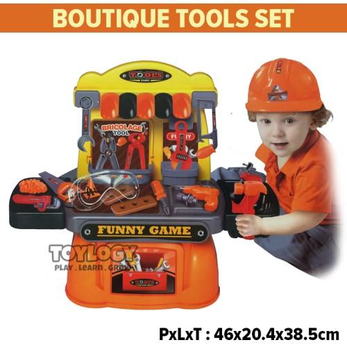 Foto Produk Mainan Edukasi Anak Laki Cowo Tools Set Meja Alat Perkakas Tukang Work dari Toylogy