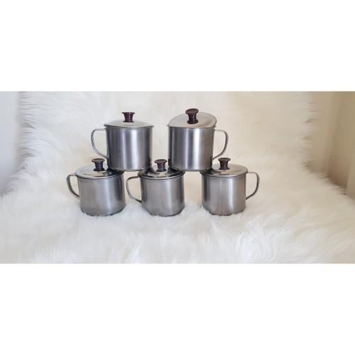 Foto Produk Gelas / Cangkir / Mug Stainless Steel 11 CM Tebal Original dari Digital Best