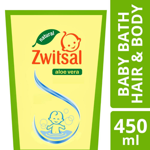 Foto Produk Zwitsal Baby Bath Natural Hair & Body 2in1 Refill 450ml Pouch Sabun dari Nic Shop