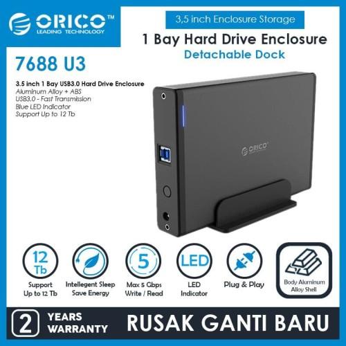 Foto Produk ORICO 7688U3 3.5 inch USB3.0 External Hard Drive Enclosure dari ORICO INDONESIA