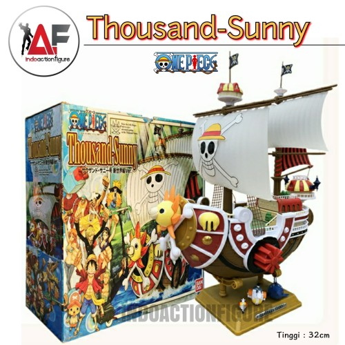 Foto Produk Action figure One Piece kapal Thousand Sunny go 25cm kws mugiwara crew dari IndoActionFigure