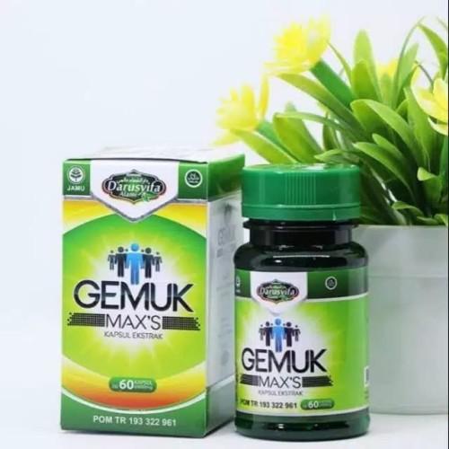 Foto Produk Obat Herbal Penambah Berat Badan | Aman BPOM - Gemuk Maxs dari Muji Jaya Herbal