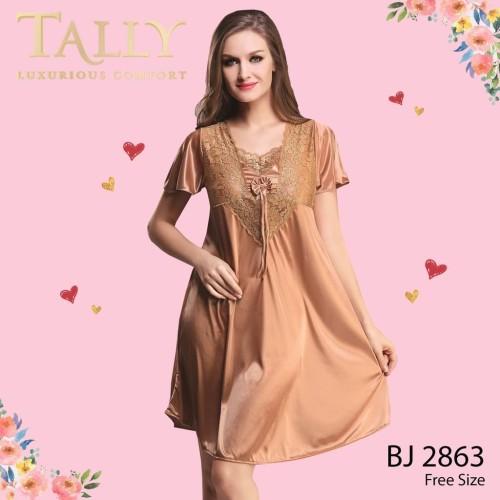 Foto Produk TALLY Bj 2863 Baju tidur Seksi lingerie Satin - Merah dari Tally Official Store