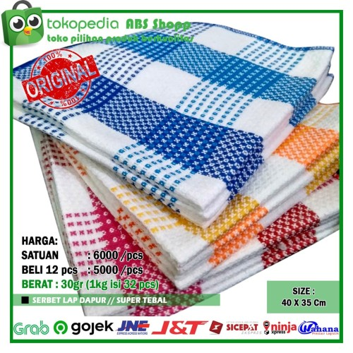 Foto Produk serbet / lap dapur / lap / kain lap - Merah dari ABS shopp