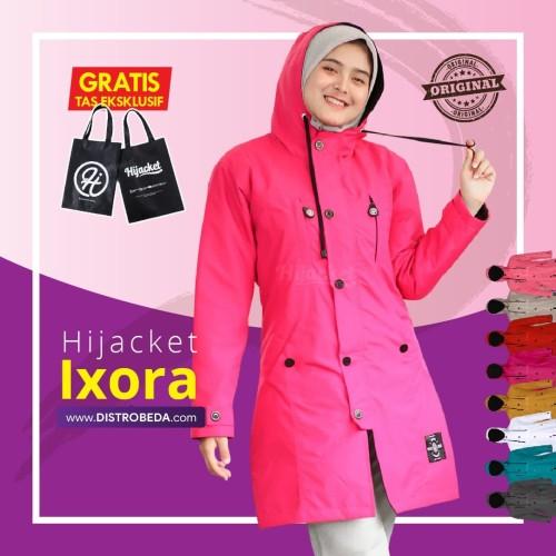Foto Produk Jaket Parasut Wanita Hijacket Ixora Distrobeda Jaket Muslimah Hijab dari distrobeda