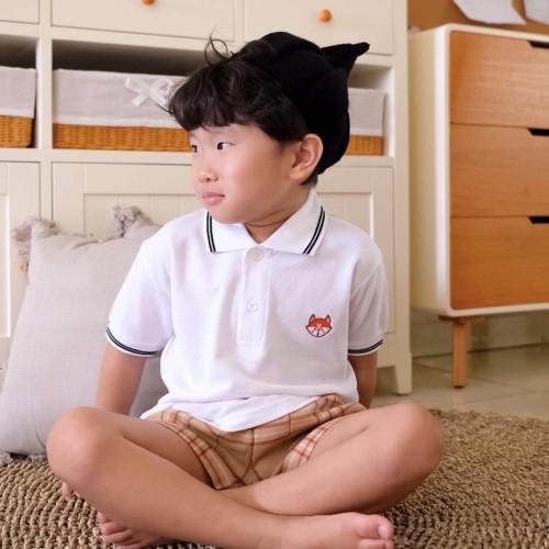 Foto Produk Polo Shirt Polos Anak - Anak Warna Putih| P008 by Little Jergio - XXL dari Little Jergio