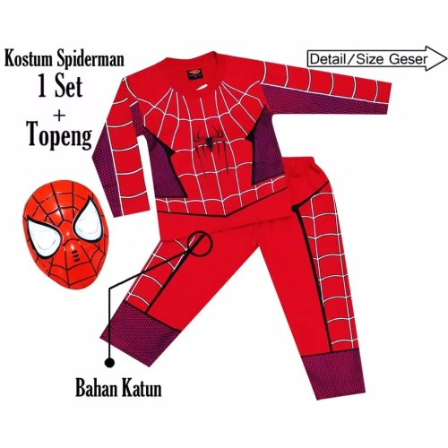 Foto Produk Kostum anak spiderman size 4-20(s)/2-10 th - 4 dari Sun-kids