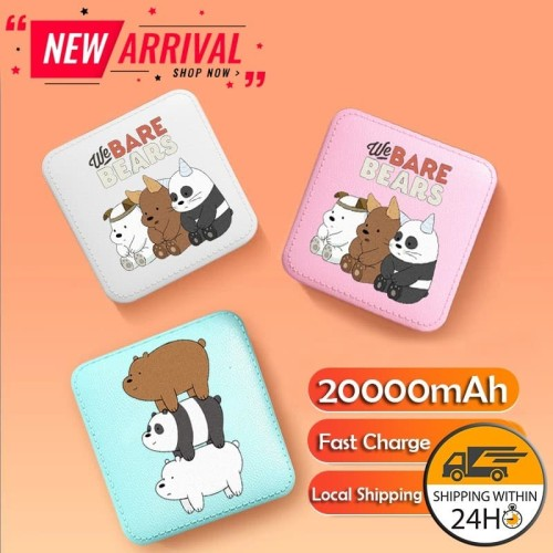 Foto Produk 20000mAh We Bare Bear Powerbank Cute Portable Mini Power Bank dari Warung_Kampung