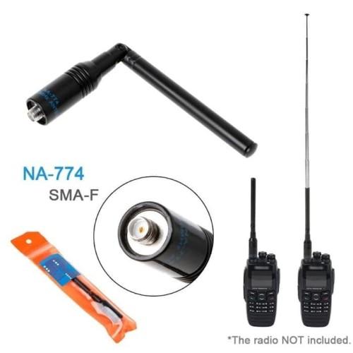 Foto Produk Nagoya NA-774 Antena HT Cina Dual Band 12cm Baofeng Pofung NA774 dari Hanika Communication