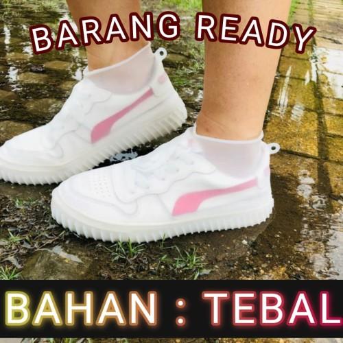 Foto Produk Shoes Cover / Sarung Sepatu Anti Hujan /pelindung sepatu silicone - S, Hitam dari yellopedia